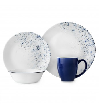 【現貨】 美國康寧 Corelle Livingware Indigo Speckle 16-Pc Set
