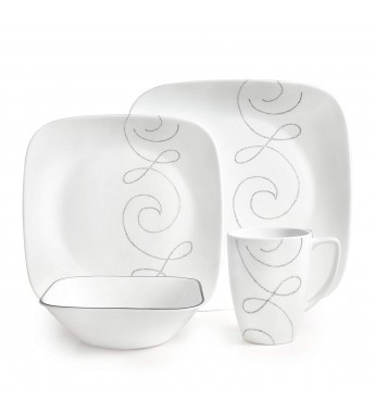 【現貨】 美國康寧 Corelle Livingware Endless Thrd 16-Pc Set