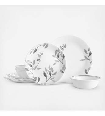 【現貨】 美國康寧 Corelle Livingware Misty Leaves 12-Pc Set