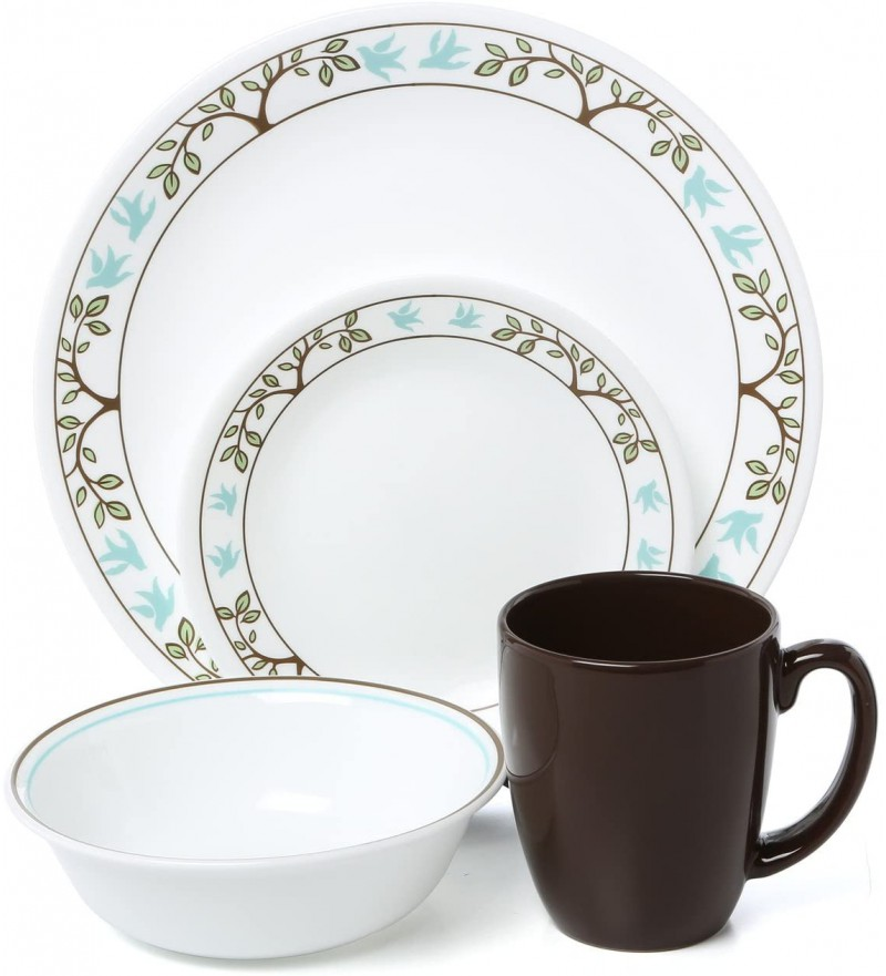 【現貨】 美國康寧 Corelle Livingware Tree Bird 16-Pc Set